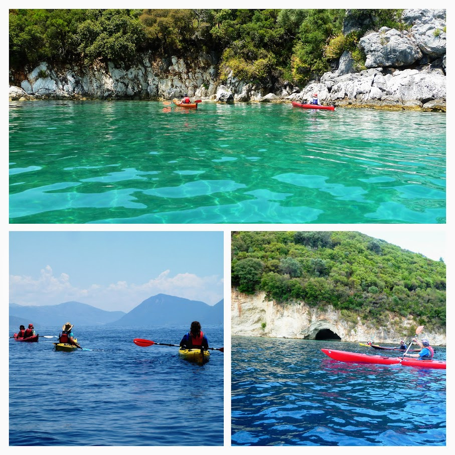 Sea kayak in Lefkada